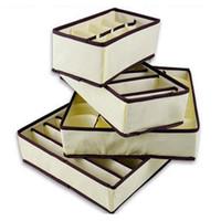 Wholesale socks bra for sale - Group buy 4Pcs Set Collapsible Underwear Bra Organizer Storage Box Drawer Closet Organizer Box For Underwear Scarfs Socks Bra Multi Size Y200111