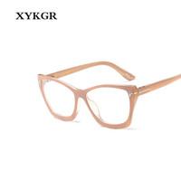 черные розовые очки рамы оптовых-XYKGR women's optical computer glasses frame fashion  cat eyes black frame pink glasses men and women