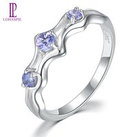 Wholesale tanzanite china for sale - Group buy Real Natural Gemstone Purple Tanzanite Wedding Ring for Women s Gift Solid Sterling Silver Fine Fashion Stone Jewelry New Arrivals