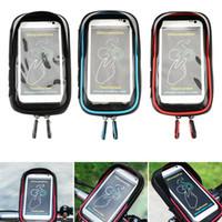 Wholesale motorcycle phone holder waterproof online – Waterproof Mobile phone holder For Bike Motorcycle Mobile Stand Handlebar Mount Bag Rack Accessories Bag Headphone Touch