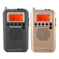 ingrosso aria a banda-Ricevitore radio banda VHF Aircraft Radio registratore banda completa portatile per AIR / FM / AM / CB / VHF / SW 2019 Nuovo