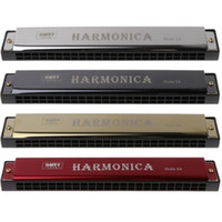 Wholesale Professional Hole Harmonica C Key Metal Harmonica Woodwind Instrument For Beginners Color Dropshipping