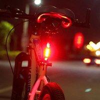 weiße fahrradsicherheit warnleuchte großhandel-Tragbares wiederaufladbares USB-Fahrrad-Rückfahrrad nach Warnmeldung LED-Rückfahrleuchte, die weiß / rot / blau hervorhebt