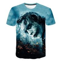t рубашки разных стилей оптовых-20 различных стилей клоун мужской 3D печати мужская футболка с коротким рукавом плюс размер M-5XL футболка мужчины 3D дизайнер одежды