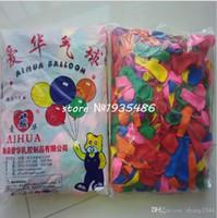 foil mylar cartoon balões venda por atacado-Hot 500 unidades / lot No3 pequenos balões bola redonda 100% balão de látex balões de Natal no ar festa de casamento bomba de brinquedo de maçã