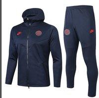 Wholesale 2019 Jordam X soccer jacket training suit Paris Jordam football hoodie tracksuit CAVANI MBAPPE maillot de foot