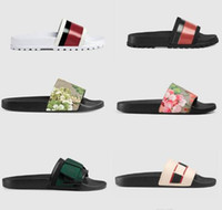Wholesale slippers men resale online - Newset Men Women Sandals Shoes Slippers Pearl Snake Print Slide Summer Wide Flat Sandals Slipper With Box Dust Bag