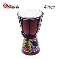 kit de bateria eletrônica usb venda por atacado-Djembe africano cilindro da mão da percussão de 4 polegadas para a venda, Jambe / baterista de madeira de Doumbek