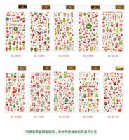 adesivos de natal para paredes venda por atacado-2018 dos desenhos animados DIY do Natal Adesivos Papai Noel adesivos de parede da árvore de Natal do boneco de neve Paster presente Kindergarten Recompensa para crianças Crianças PVC