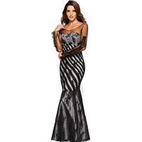 elbiseli elbiseler toptan satış-Dantel gazlı bez topu uzun kızartma gece elbisesi moda bayan gece elbisesi