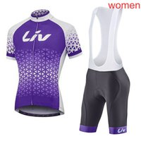 Wholesale team road cycling jerseys women for sale - Group buy 2019 LIV Team women Summer Short Sleeve Bike Jersey Cycling Clothes Female Road Bicycle Clothing MTB Maillot Sport Uniform Y052006