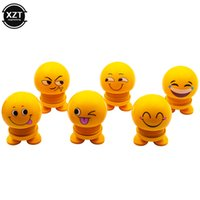 Wholesale robot decor for sale - Group buy Cute Cartoon Funny Emoji Wobble Head Shaking Head Toys Car Ornaments Bobblehead Nod Dolls Robot Lovely Car Dashboard Decor Auto