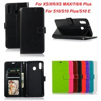 Wholesale flip leather case smartphone online – custom Crazy Horse Retro Leather Wallet Flip Case For Samsung Galaxy S10 plus S9 S8 NOTE for iphone Xs max XR plus Huawei Sony smartphone