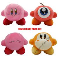 rosa anime großhandel-Kirby Plüschtiere Pink Star Kirby Kawaii Plüschtiere Red Hat Kirby Plüschpuppenspielzeug für Kindergeschenke