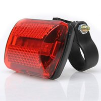 ingrosso acquistare luce rossa-5 LED Posteriore Rosso Bicicletta Back Light 7 Modalità Bike Fanale Posteriore Per 2.5-2.8 CM Diametro Telaio YS-BUY # 621273
