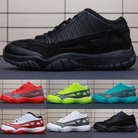 f944c605265c89 Retro Mens 11s low ie kids basketball shoes highlighter Red Green Blue Oreo  Black White BHM youth kids Jumpman 11 XI lows sneakers