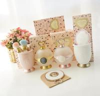 espelhos de maquiagem rosa de plástico venda por atacado-Ladurée Les Merveilleuses Flowder Blush Cup Ferramentas da composição Titular Box Pó Storge melhor qualidade para a princesa