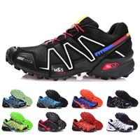 zapatillas de running impermeables para mujer. al por mayor-salomon speedcross 3 4 CS Trail Zapatos para correr para mujeres Zapatillas ligeras Zapatillas deportivas impermeables de color azul marino Solomon III Zapatos 36