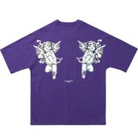 hip hop gevşek gömlek toptan satış-Hip Hop T Gömlek Aşk Tanrısı Goddess 2019 Erkek Streetwear Tişört Harajuku Yaz T-Shirt Pamuk Kısa Kollu Tees Tops gevşek