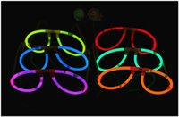 tezahürat lambası yak toptan satış-Glow Aydınlatıcı Gözlük Sopalarla Konser Topu Noel Cadılar Bayramı Light Up Parti Tüp Tezahürat Aydınlık Sahne Festivali Dekoratif Glow Stick