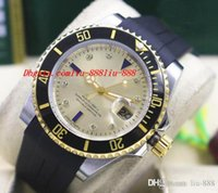 schwarze armbänder der männer großhandel-Luxus Armbanduhr Schwarz Lünette Keramik Gummi Armband Diamant Uhr Herren 40 MM Automatische Bewegung Mechanische Herrenuhren