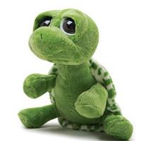 Wholesale big eyes turtle toys resale online - Small Size Big Eyes Stuffed Tortoise cm Turtle Stuffed Plush Animals Super Green Animal Plush Baby Toy Gift