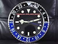 ingrosso stili di orologio da parete-8 alta qualità di stile di marca GMT orologio Orologio da parete Orologi 34CM x 5cm 1,5 kg Movimento al quarzo 316 Steel Modello 116710 116719 Orologeria
