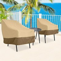 Wholesale garden tables chairs resale online - Waterproof Outdoor Patio Garden Furniture Rain Snow chair covers for Table Chair housse de chaise Sofa Set Protection