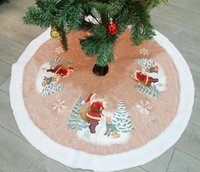 ingrosso pannello esterno di natale del grembiule-Gonna Albero di Natale Babbo natale Alce Carpet Party Ornamenti Decorazione natalizia per casa Grembiuli gonna albero di Natale