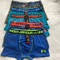 Wholesale brand men cotton boxers for sale - Group buy M XL Brand Men U A Underwear Casual Breathable Boxers Teenager Cotton Underpants Shorts Cuecas Boys Tight Waistband Homewear Underpant