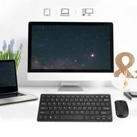bluetooth penceresi xp toptan satış-Moda Tasarımı 2.4G Ultra-Ince Kablosuz Klavye ve Fare Combo Apple Mac PC Için Yeni Bilgisayar Aksesuarları, Windows XP Android Tv Kutusu