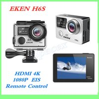 Wholesale hdmi dv resale online - High Quality EKEN H6S Waterproof inch touch DV EIS Native K Ultra HD Sports Camera WIFI HDMI Wide Angle G