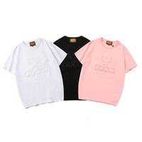 ingrosso uomini coreani camicie di moda-la migliore vendita 2019 GCUCI marchi ricamati nuova moda Luxurys Designer Classic uomini edizione coreana T-shirt in cotone Mens Designer T-shirt 1