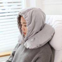 Wholesale travel pillow air cushion online - Soft Travel Inflatable U shaped pillow Neck Inflatable U Shaped Car Head Pillow Air Cushion Compact Plane Flight Rest Cushion LJJT206