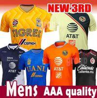 Wholesale 2018 Mexico LIGA MX Club America Soccer Jerseys Home Apertura A18 CAMPEON Third Xolos de Tijuana Chivas Tigres football shirt