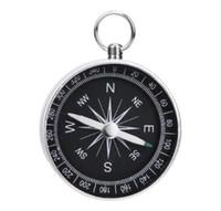 kompasse aus aluminium großhandel-G44-2 Tragbare Aluminium Leichte Notfall Kompass Outdoor Survival Compass Werkzeug Navigation Wildes Werkzeug Schwarz Brujula Chaveiro