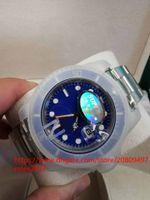 цены смотреть движения оптовых-Специальная цена мужские роскошные топ V7 2813 механизм синий керамический безель сапфировое стекло 40 мм 116610 116610LV автоматические мужские светящиеся часы