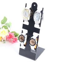 relojes de pulsera de plástico al por mayor-L forma de reloj de pulsera de plástico del soporte de exhibición del estante del sostenedor de la joyería pulsera de reloj de visualización, alejado Negro escaparate nueva GGA3052