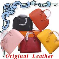 caixas de concha venda por atacado-2019 marca designer de moda bolsa de luxo bolsa de Shell de luxo de alta qualidade mulheres sacola Genuine Leather Marmont saco Vem com CAIXA