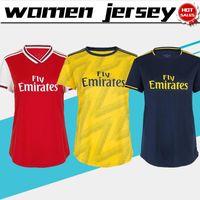 venda de uniformes de meninas venda por atacado-Mulheres Jersey 2020 Artilheiro Início de Futebol 19/20 Feminino camisas de futebol afastado Fardas menina do futebol terceiro azul profundo Para venda