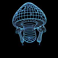 ingrosso lampada da notte di libro-Book Carving Characters Second Gram Force Mushroom 3d Arts Lampada Colorful Small Night-light Originalità Lampada Lampada per visione