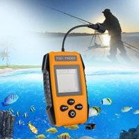 Wholesale sonar fishing finder lcd resale online - 2018 Portable Fish Finder Wireless Alarm Sonar LCD Fishing Wired Sounder TL88E