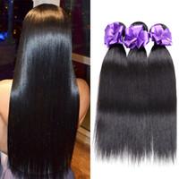 12 zoll malaysia weben großhandel-Gerade Brasilianische Malaysische Peruanische Indische Haarwebart aus Malaysia 2 Bundles Deal Echthaarverlängerungsverkäufer 8 bis 28 Zoll Remy 100% Human Hair Bundles