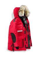 abrigo de piel abajo al por mayor-Chaquetas de nieve para hombre, resistentes al frío, pieles de coyote, mantra de nieve, largas parkas para exteriores, abrigos de abrigo