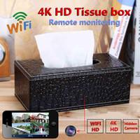 tissus de la caméra achat en gros de-Caméra sans fil WIFI IP de boîte de tissu 4K HD 2MP 1080P