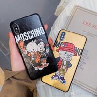ingrosso casi di maiale-fashion new mos brand custodia morbida per telefono in tpu per iPhone 8 8plus Xs max XR X cover posteriore per Apple iphone xs xr x custodia per iphone xs max