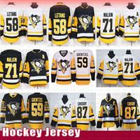 nouveaux chandails de hockey achat en gros de-Pittsburgh Penguins 87 Maillots de hockey Sidney Crosby 58 Kris Letang 71 Evgeni Malkin 59 Jake Guentzel Maillot Rétro 2019 Nouveau