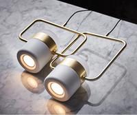 minimalistisches schlafzimmer nachttischlampen großhandel-2019 Moderne minimalistische Bar Restaurant Multi-Head molekular rotierenden Pendelleuchten Nordic Schlafzimmer Nacht Metall Pendelleuchten