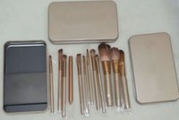 Wholesale iron box brush for sale - ePacket New Makeup Brushes NO Pieces Brush With Iron Box