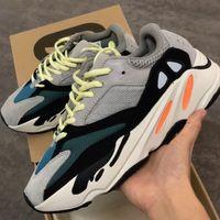 erkekler için yumuşak koşu ayakkabıları toptan satış-Tasarımcı Ayakkabı Kanye West 700 Statik Refective Sneakers Gerçek Yumuşak Tabanlar Dalga Koşucu Koşu Ayakkabıları Erkekler Eğitmenler Basketbol Ayakkabıları SZ ABD 5-13